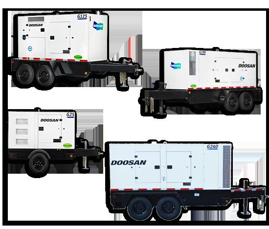 Doosan Portable Generators Rentals